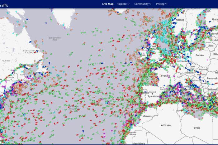 Marinetraffic – poloha lodi ve svete